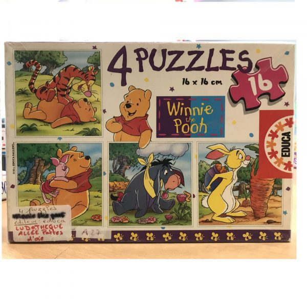 Puzzle Winnie the Pooh (4X16)